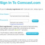 Forms: Comcast Sign In Redesign