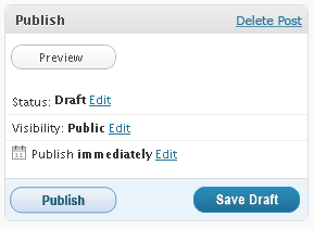 wordpress publish new