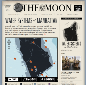 Water Systems of Manhattan - The New York Moon