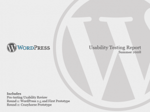 wordpress report