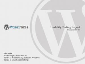 wordpress report